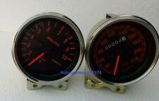 Abarth Speedometer and tachometer 85 mm chrome bezel