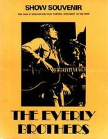 EVERLY BROTHERS 1972 BRITISH TOUR CONCERT PROGRAM BOOK BOOKLET / VERY GOOD