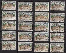 K51* Lot Timbres France Oblitérés n°1390 (1963) CHATEAU D'AMBOISE x20 pour étude