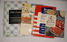 Vintage Betty Crocker Cookbook Booklets 1933 101 Bisquick, 1943, 1957 +1 more