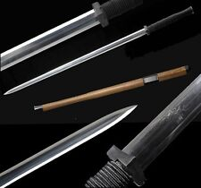 Boutique Handmade Chinese Sword Han Jian Pattern Steel Iron Fitting Sharp Blade