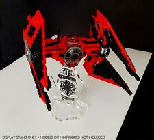 Display stand 3D-BK angled +slots for Lego 75240 Major Vonreg's Tie Fighter