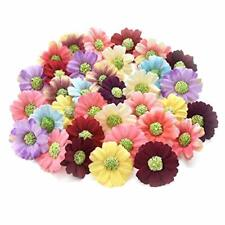 for Crafts Artificial Sunflower Daisy Head Silk Handmake Flower Heads Colorful
