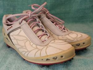 ECCO HydroMax Women's Golf Shoes Gray Pink Size 40 US 9.5 Extra Wide
