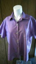 LL Bean Women's medium button down Purple blouse