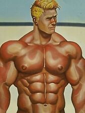 "New ListingOriginal Gay Male Interest Acrylic/Mixed Media Painting-""Beach Day"""