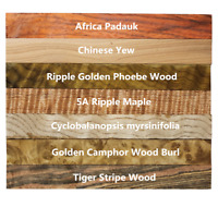 Pack of 7pcs Mixed Craft Wood Turning Blanks,Woodworking Kits 15mm/20mm/30mm