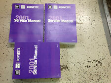 2001 Chevrolet Chevy CORVETTE Service Shop Repair Manual Set OEM BOOK NEW x