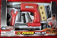 Tool Master Junior Power Tool Set 24pc Red ages 3+ New