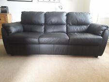 The Collection Trieste Black Leather Sofa Settee - Argos