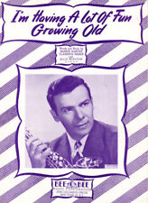 I'M HAVING A LOT OF FUN GROWING OLD Music Sheet-1947-CRIS CROSS/SAXOPHONE