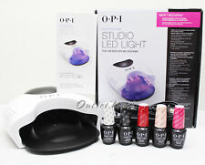 OPI GelColor STUDIO LED LIGHT Lamp GL901 + Base +Top Coat + 3 ANY Colors SET KIT