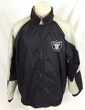 Oakland Raiders Vintage NFL Starter Jacket with Hood Black & Gray Men's XL