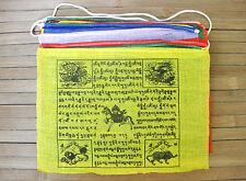 25 Tibetische Gebetsfahnen - 6,5 Meter- Größe 3 - 100 % Baumwolle - Nepal