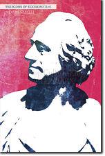 Iconos de la economía # 01-Adam Smith-única foto impresión de arte De Regalo-Econ