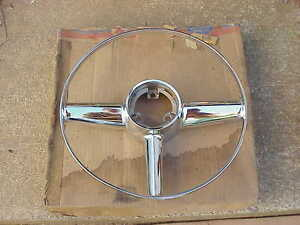 NOS MoPar 1953 1954 Desoto Firedome Powermaster Steering Wheel Horn Ring