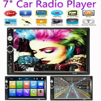 """Double Din HD 7"""" Car Radio Player Touch Screen MP5 Stereo Bluetooth FM AUX USB"""