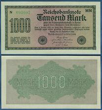 1000 Mark 1922  KASSENFRISCH  Wz. Vielecke  Ro.75 f