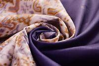 Indian Vintage Sari Silk Blend Dress Woven Traditional Dress Purple Saree Fabric