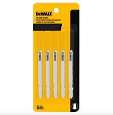 Dewalt 3 inch Metal Cutting Jig Saw Blade T Shank 5 Pack Jigsaw Blades Tool Set