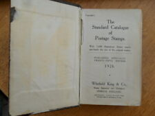 1926 Whitfield King Standard Catalogue of Postage Stamps 25th Edition