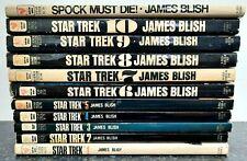 More details for star trek, 1-10 & spock must die, vintage bantam paperback, james blish