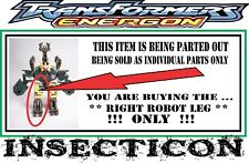 Transformers Energon _ Basic / Scout Class _ Insecticon _ Right Robot Leg