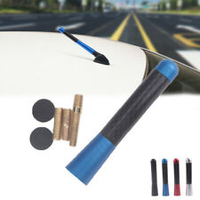 "Universal 3"" Blue Aluminum Alloy Carbon Fiber FM AM Radio Car Antenna Aerial"