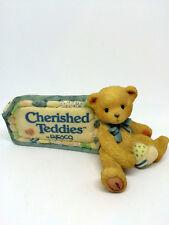 WUNDERSCHÖNER WERBEAUFSTELLER BÄR VON CHERISHED TEDDIES c 1991 L 13 cm TEDDYBÄR
