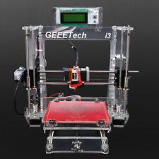 Acrylic Reprap Prusa Geeetech i3 3D DIY 3d Printer MK8 Extruder MK2A Heatbed
