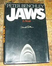 1974 Jaws Peter Benchley 1st Ed Hb $6.95 Priced Dj Shark Week