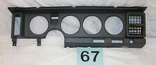 85-89 Firebird TA Gray Plastic Gauge Surround Trim Panel With Vents  NICE  #67