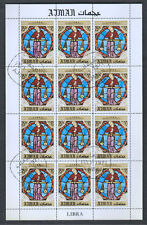 Ajman 1971 Signs Of The Zodiac Libra Cto Used Full Sheet #S43