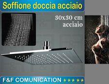 SOFFIONE QUADRATO PER CROMOTERAPIA DOCCIA CASCATA PIOGGIA CROMATO 30 CM