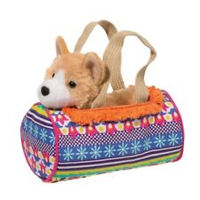 Douglas Cuddle Toys Boho Sassy Sak with Corgi Dog Plush Toy, 7""