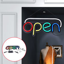 Led Neon Open Sign Business Light Bar Club Wall Decor+Chain 25W 19.7x9.8x1.2inch