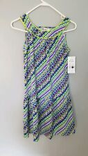 Girl Friends by Anita G Pucci Baja Stripe Dress Size 16 New with Tags Msrp 39.