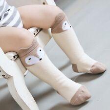 Childrens Cute Soft Fox Cotton Knee High Socks - 1-3 years