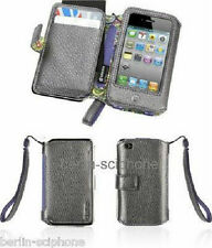 Griffin Elan Passport Wallet Platin Leder Tasche Etui Hülle Apple iPhone 4 4G 4S
