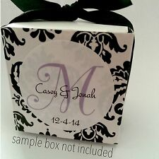48 (1.67'') Personalized Wedding Favor Labels Stickers Monogram New GLOSSY!