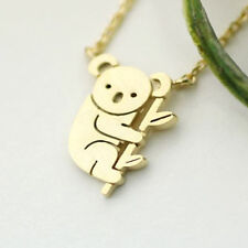 Cute Silver/Gold Koala Bear Pendant Necklace Chain Choker Women Girl Jewelry