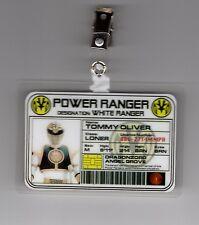 Power Ranger  ID Badge-White Ranger  cosplay costume