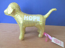 "Victoria's Secret~PINK~Plush Shiny Gold ""HOPE"" PUPPY DOG~NWT"