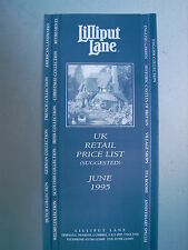 1995 June Lilliput Lane Collectors Club Uk Retail Price List rare item