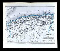 1877 Vuillemin Map - Algeria Alger Oran Constantine Bone Collo Tiaret - Africa