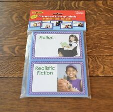 EDUPRESS CLASSROOM LIBRARY LABELS - 72 PIECES - BRAND NEW