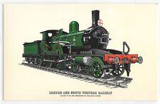 London And South Western Railway Steam Train Class T3 Illustration Postcard