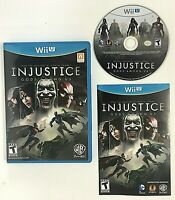 Injustice [ Gods Among Us ] (Wii U) 2012 Best Fighting game CIB COMPLETE TESTED