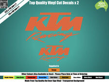KTM RACING DECAL - MOTO GP, STREET BIKE, MOTOR CROSS - ORANGE or COLOURS