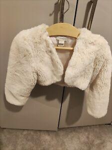 Girls Monsoon Faux Fur Shrug Bolero, Age 3-4